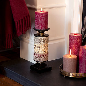Decorative Embossed Candle Holder - lighting