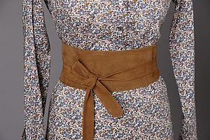Tan Nubuck Wrap Belt