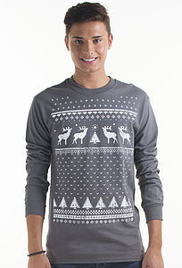 Men's Christmas Reindeer Long Sleeved Top - christmas jumpers & fancy dress