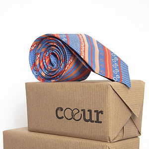 Pure British Silk Oxford Tie In Ethnik - ties & tie clips