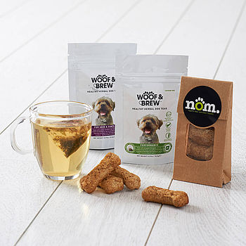 Dog Herbal Tea And Biscuits Gift Pack