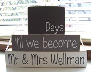 Personalised Wedding Countdown Blocks - decorative accessories