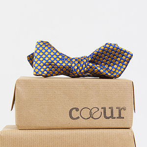 Limited Edition British Silk Spotted Bow Tie
