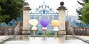 Large Heart Shaped Umbrella - wedding fashion