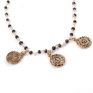 Triple Charm Necklace - women's jewellery