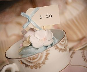 Set Of Ten 'I Do Party Picks' - table decorations