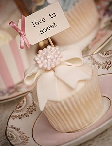 Set Of Ten 'Love Is Sweet' Cupcake Toppers