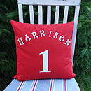 Personalised Children's 'Football' Cushion