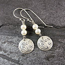 Cow Parsley Pearl And Silver Earrings