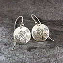 Cow Parsley Silver Drop Earrings