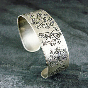 Cow Parsley Silver Cuff Bracelet - bracelets & bangles