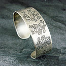 Cow Parsley Silver Cuff Bracelet