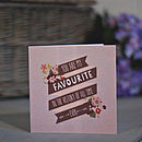 'You Are My Favourite' Anniversary Card