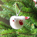 Red And White Chick Tree Decoration