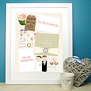 Personalised Memories Wedding Print