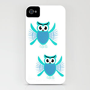 Baby Owls Flying iPhone Case - women's accessories