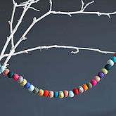 Felt Ball Garland - christmas decorations