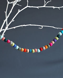 Felt Ball Garland - hanging decorations