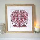 Personalised Songbird Tree Heart Print