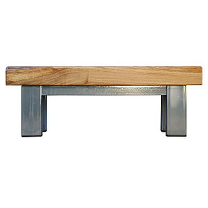 Oak And Iron Coffee Table - furniture