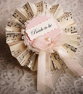 Vintage Music Hen Party Rosettes - hen party gifts & styling
