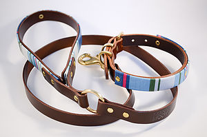 Deckchair Stripe Dog Collar, Made To Measure - dogs