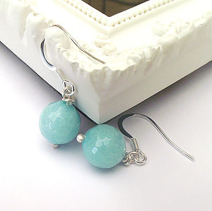 Aqua Jade Earrings - earrings