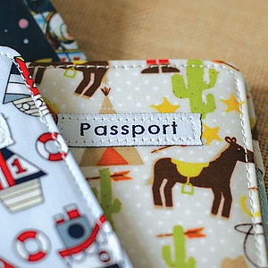 Boys Oil Cloth Passport Cover - bags, purses & wallets