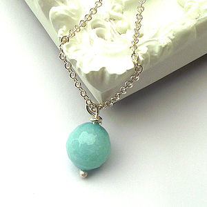 Aqua Jade Necklace - necklaces & pendants