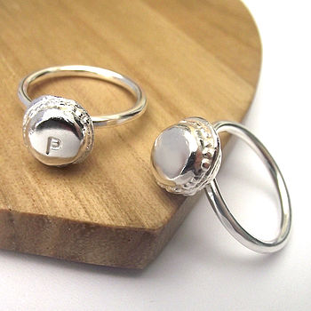 Silver Mini Macaroon Ring With Gift Card