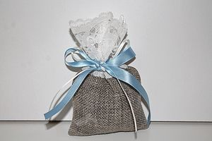 New Burlap And Lace Wedding Favour Bag - gift bags & boxes