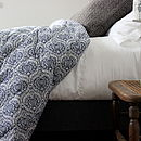 French Blue And White Quilt