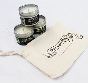 Bon Voyage Gift Bag With Candles - wedding favours