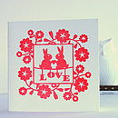 Love Bunnies Letterpress Card