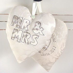 Personalised Embroidered Wedding Heart - decorative accessories