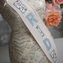 Hen Party Fabric Sash Pastel Blue And Pink