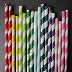Striped Paper Straws - table decorations