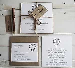 Parcel And Twine Invitation - invitations