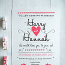 Kraft Folk Heart Card Invitation