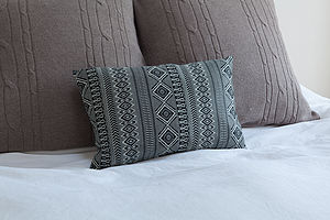 Diamond Lattice Upcycled Cushion - cushions