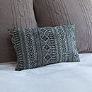 Diamond Lattice Upcycled Cushion
