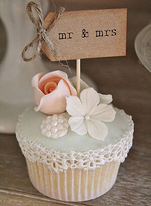 Set Of Ten 'Mr And Mrs' Cupcake Toppers - cake toppers & decorations