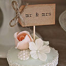 Set Of Ten 'Mr And Mrs' Cupcake Toppers