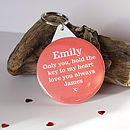 Personalised 'Key To My Heart' Mirror Keyring