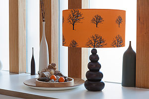 Snow Tree Pumpkin Lampshade - lighting