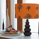 Snow Tree Pumpkin Lampshade
