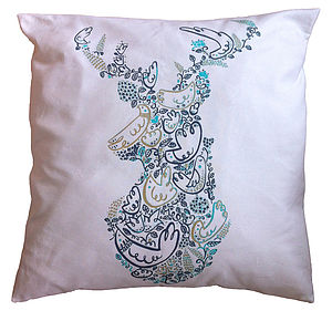 Stags Head Large Cushion Cover