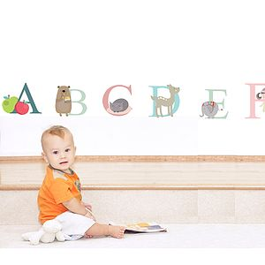 Alphabet Fabric Wall Stickers - wall stickers by room