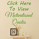 Motivational Wall Quote Stickers