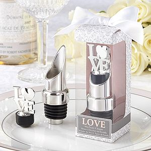 'Love' Chrome Pourer/Bottle Stopper